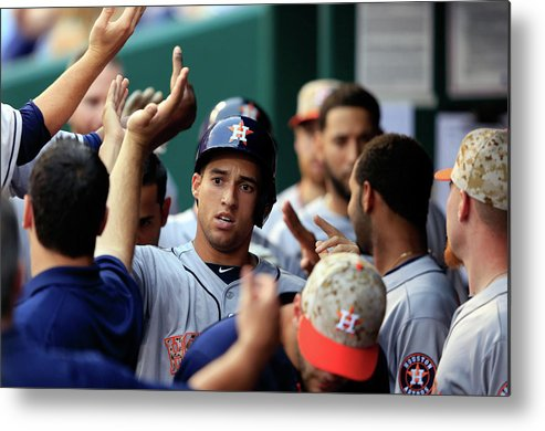 American League Baseball Metal Print featuring the photograph George Springer by Jamie Squire