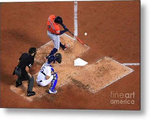 Second Inning Metal Print featuring the photograph George Springer by Sean M. Haffey