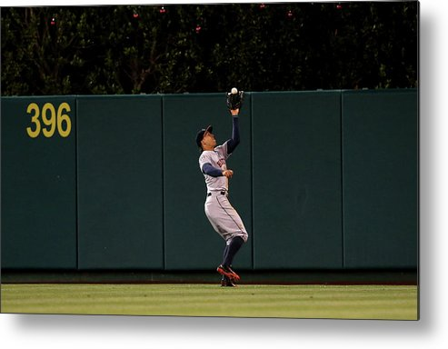 People Metal Print featuring the photograph George Springer by Stephen Dunn