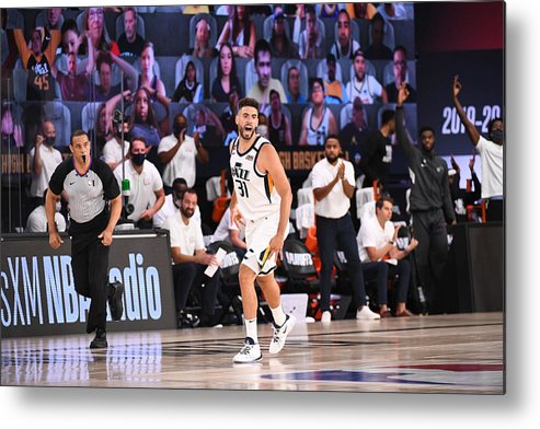 Playoffs Metal Print featuring the photograph Georges Niang by Garrett Ellwood