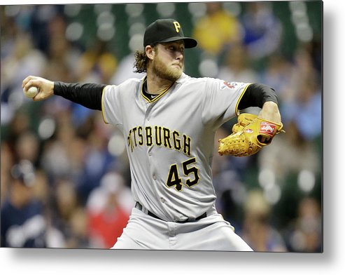Gerrit Cole Metal Print featuring the photograph Gerrit Cole by Mike Mcginnis