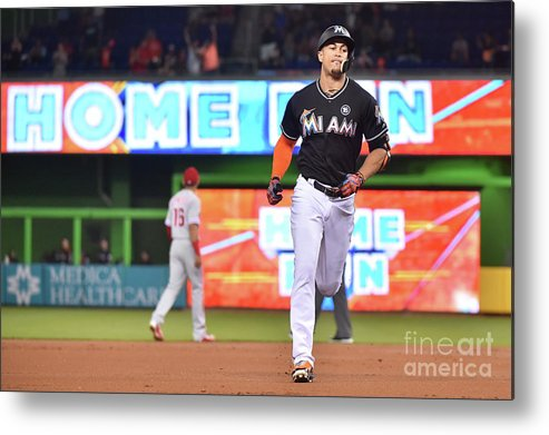 People Metal Print featuring the photograph Giancarlo Stanton by Eric Espada