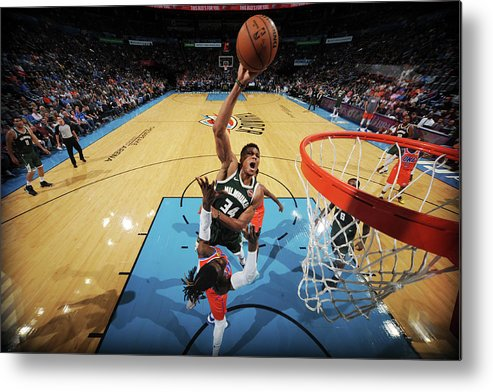 Nba Pro Basketball Metal Print featuring the photograph Giannis Antetokounmpo by Bill Baptist