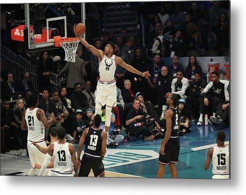 Nba Pro Basketball Metal Print featuring the photograph Giannis Antetokounmpo by Joe Murphy