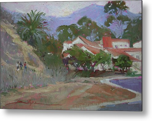Catalina Island Ca Metal Print featuring the painting Going Home Catalina by Betty Jean Billups