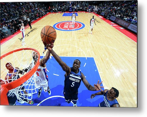 Nba Pro Basketball Metal Print featuring the photograph Gorgui Dieng by Chris Schwegler