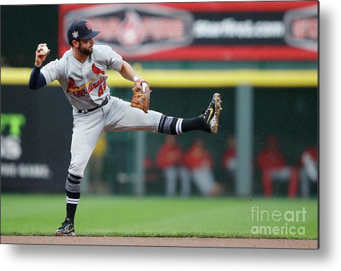 Great American Ball Park Metal Print featuring the photograph Greg Garcia by Joe Robbins