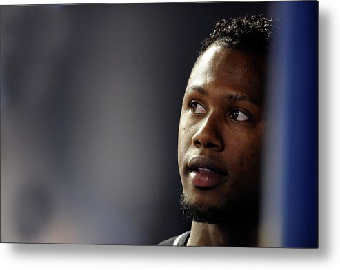 Looking Metal Print featuring the photograph Hanley Ramirez by Ronald C. Modra/sports Imagery