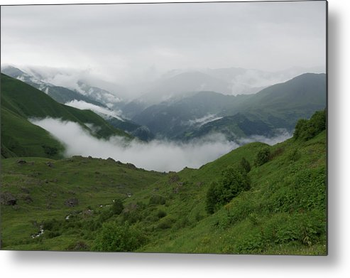 Scenics Metal Print featuring the photograph Heavy clouds over Abudelauri Valley, Caucasus Mountains, Georgia by Vyacheslav Argenberg