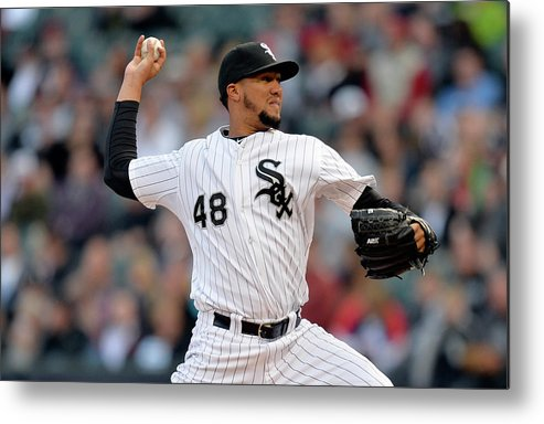 American League Baseball Metal Print featuring the photograph Hector Noesi by Brian Kersey