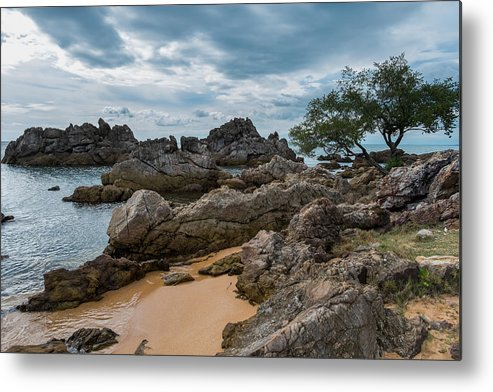 Tranquility Metal Print featuring the photograph Hin Khrong View Point at Chanthaburi, Thailand by Lifeispixels