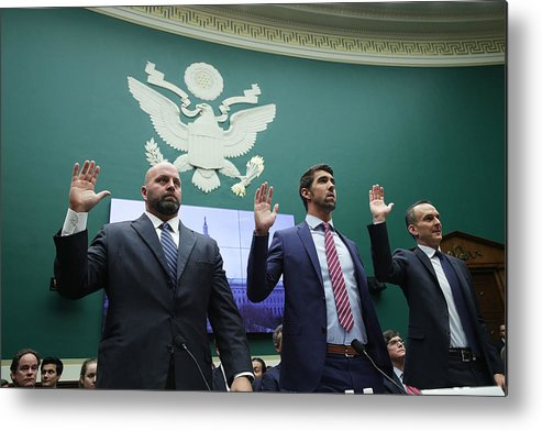 Oath Metal Print featuring the photograph House Holds Hearing On International Anti-Doping System by Alex Wong