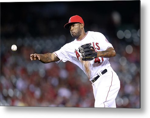 Ninth Inning Metal Print featuring the photograph Howie Kendrick by Stephen Dunn