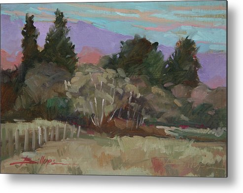 Northern California Metal Print featuring the painting Humbolt Fields by Betty Jean Billups