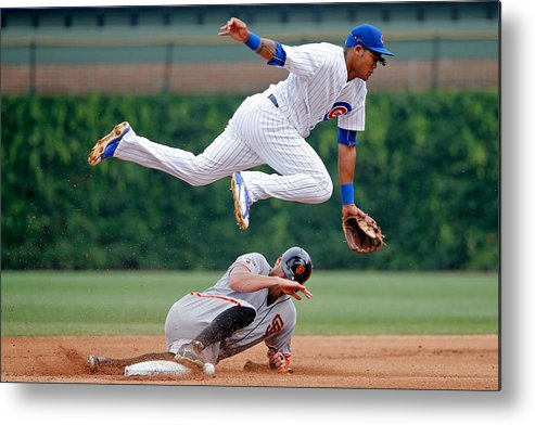People Metal Print featuring the photograph Hunter Pence and Addison Russell by Jon Durr