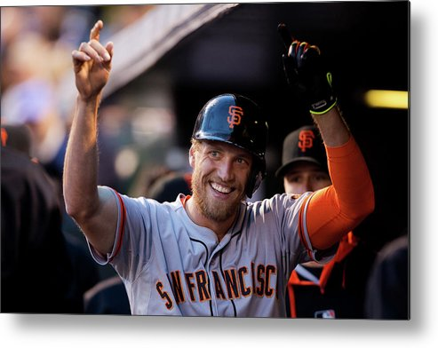 Celebration Metal Print featuring the photograph Hunter Pence by Justin Edmonds