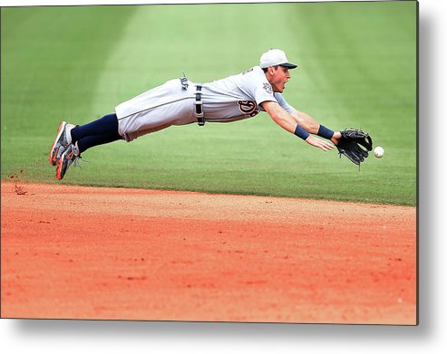People Metal Print featuring the photograph Ian Kinsler by Stacy Revere