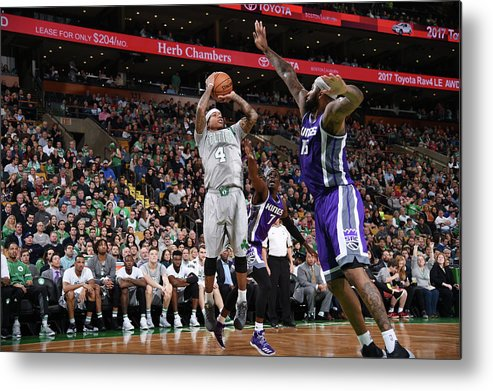Nba Pro Basketball Metal Print featuring the photograph Isaiah Thomas and Demarcus Cousins by Brian Babineau