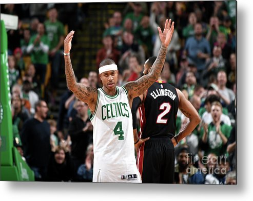 Nba Pro Basketball Metal Print featuring the photograph Isaiah Thomas by Steve Babineau