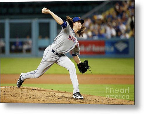 Jacob Degrom Metal Print featuring the photograph Jacob Degrom by Sean M. Haffey