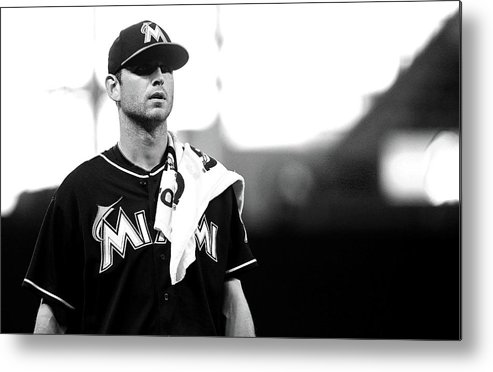 American League Baseball Metal Print featuring the photograph Jacob Turner by Mike Ehrmann