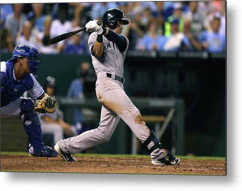 American League Baseball Metal Print featuring the photograph Jacoby Ellsbury by Ed Zurga