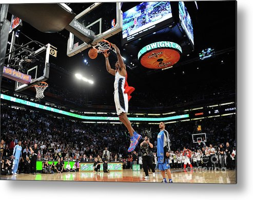 Nba Pro Basketball Metal Print featuring the photograph Jameer Nelson and Dwight Howard by Noah Graham