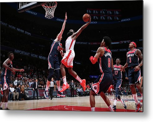 Nba Pro Basketball Metal Print featuring the photograph James Harden by Ned Dishman