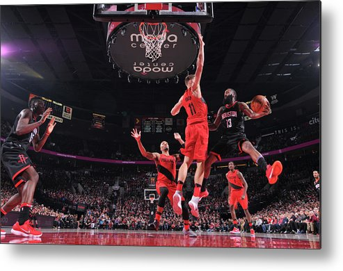Nba Pro Basketball Metal Print featuring the photograph James Harden by Sam Forencich