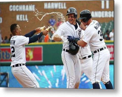Three Quarter Length Metal Print featuring the photograph James Mccann and John Hicks by Gregory Shamus