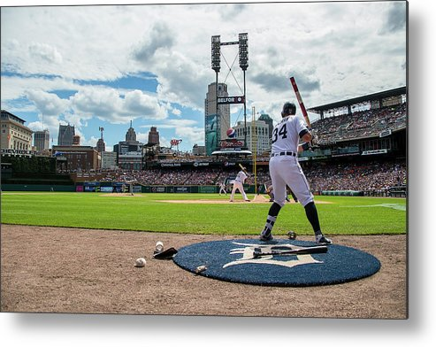 American League Baseball Metal Print featuring the photograph James Mccann by Dave Reginek