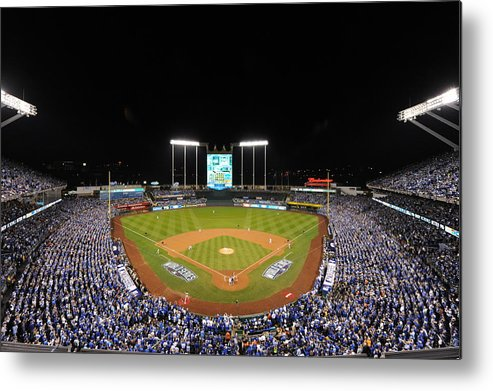 Playoffs Metal Print featuring the photograph James Shields by Mlb Photos