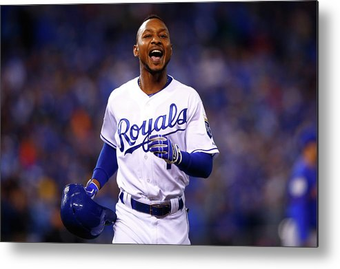 Three Quarter Length Metal Print featuring the photograph Jarrod Dyson by Jamie Squire