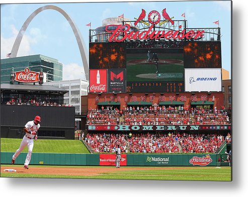 St. Louis Cardinals Metal Print featuring the photograph Jason Heyward by Dilip Vishwanat