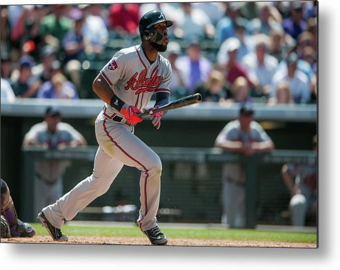 Toughness Metal Print featuring the photograph Jason Heyward by Dustin Bradford