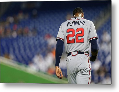 American League Baseball Metal Print featuring the photograph Jason Heyward by Mike Ehrmann