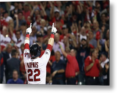 American League Baseball Metal Print featuring the photograph Jason Kipnis by Maddie Meyer