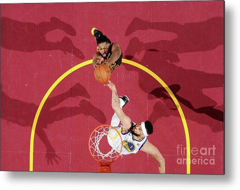 Playoffs Metal Print featuring the photograph Javale Mcgee and Tristan Thompson by Andrew D. Bernstein