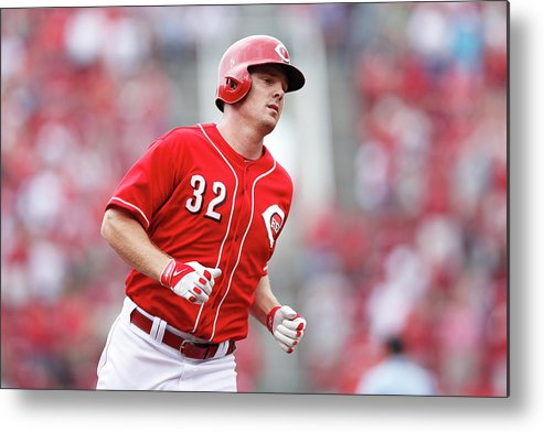Great American Ball Park Metal Print featuring the photograph Jay Bruce by Joe Robbins