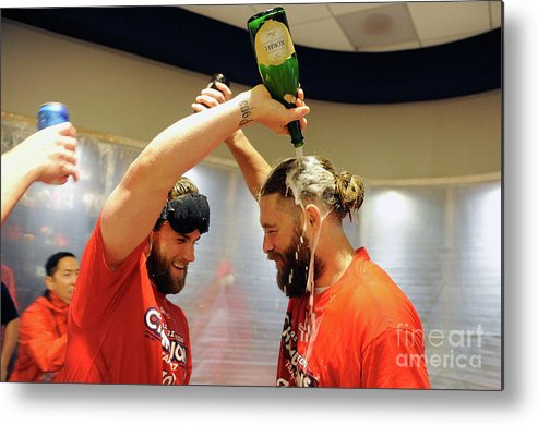 Championship Metal Print featuring the photograph Jayson Werth and Bryce Harper by Greg Fiume