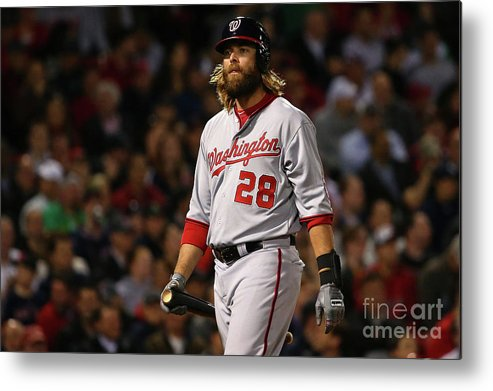 Three Quarter Length Metal Print featuring the photograph Jayson Werth by Maddie Meyer