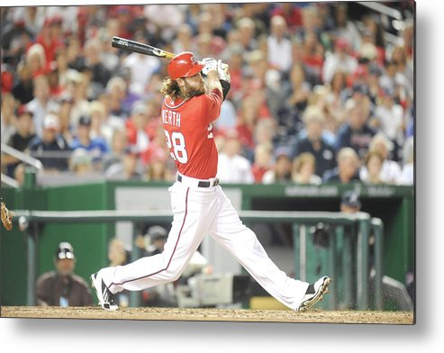 Motion Metal Print featuring the photograph Jayson Werth by Mitchell Layton