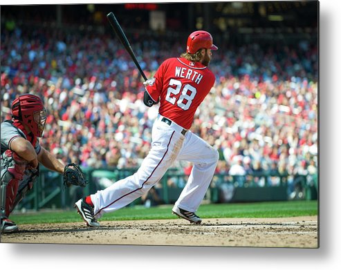 Motion Metal Print featuring the photograph Jayson Werth by Rob Tringali