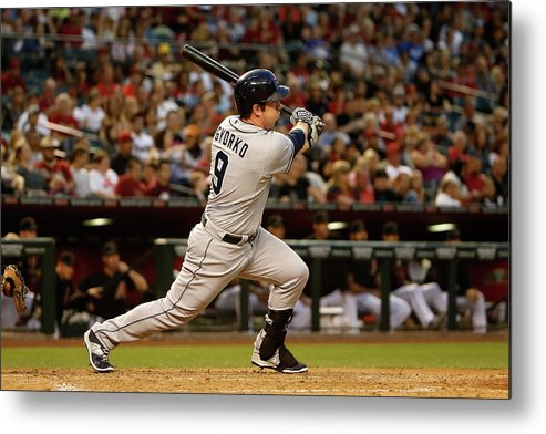 Jedd Gyorko Metal Print featuring the photograph Jedd Gyorko by Christian Petersen
