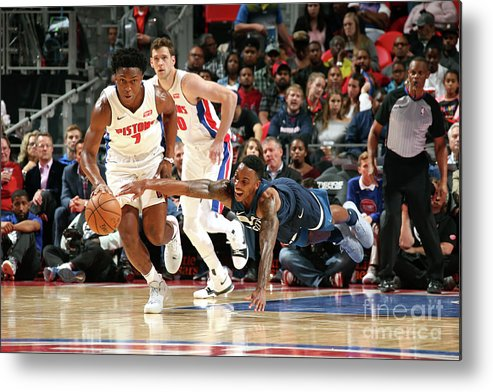 Nba Pro Basketball Metal Print featuring the photograph Jeff Teague and Stanley Johnson by Brian Sevald