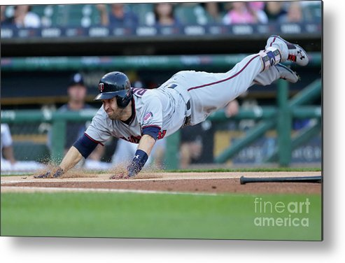 People Metal Print featuring the photograph Jeimer Candelario and Brian Dozier by Duane Burleson