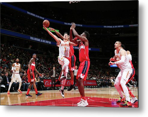 Nba Pro Basketball Metal Print featuring the photograph Jeremy Lin by Ned Dishman