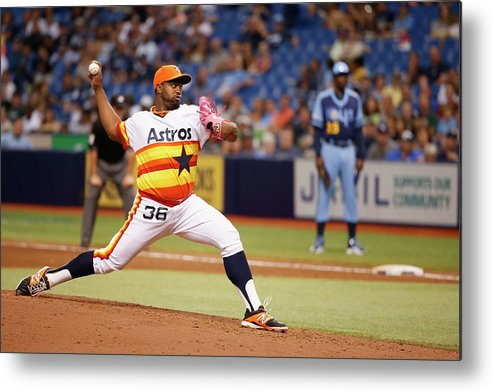 American League Baseball Metal Print featuring the photograph Jerome Williams by Scott Iskowitz