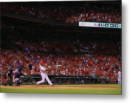 St. Louis Cardinals Metal Print featuring the photograph Jhonny Peralta by Dilip Vishwanat