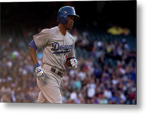 Second Inning Metal Print featuring the photograph Jimmy Rollins and Kyle Kendrick by Doug Pensinger